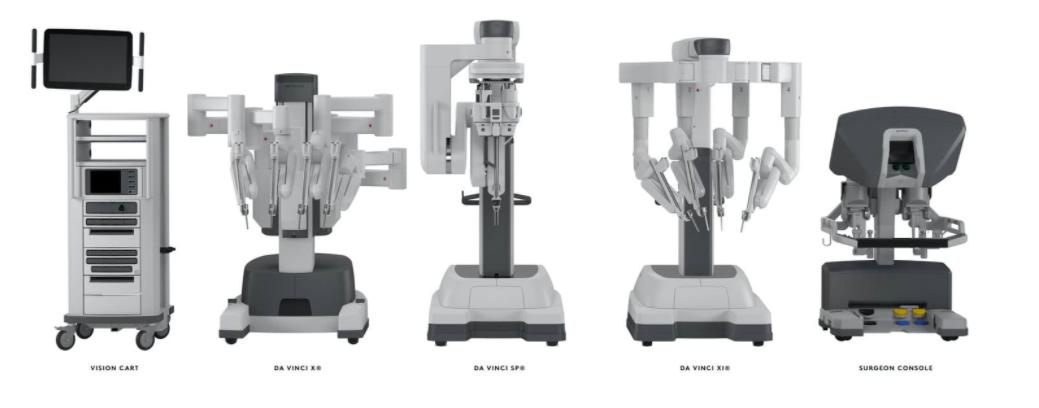 Модельный ряд робота да Винчи: da Vinci S, da Vinci Xi, da Vinci SP