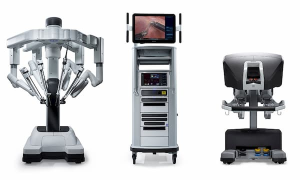 компоненты робота да винчи, части роботической системы да винчи